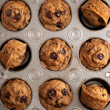 One Bowl Gingerbread Banana Chocolate Chip Muffins (Gluten and Dairy Free!)