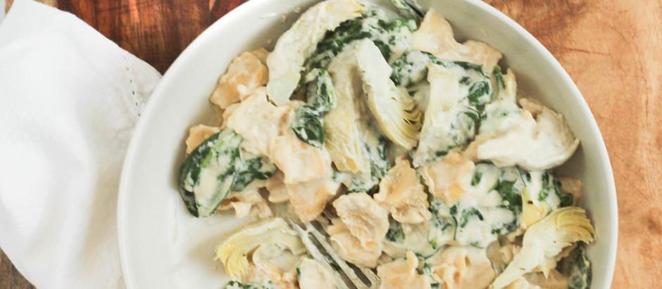 Creamy Vegan Spinach and Artichoke Pasta (Gluten Free!)