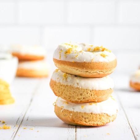 Gluten Free Vanilla Bean Donuts with Lemon-Mascarpone Icing