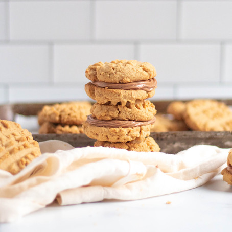 Gluten Free Peanut Butter Sandwich Cookies