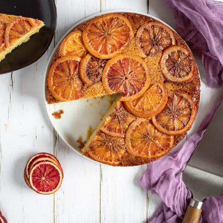 Upside Down Blood Orange Cornmeal Cake (Gluten Free!)