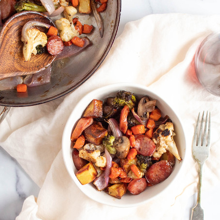 Sausage and Mixed Vegetable Saute