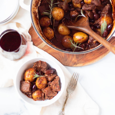 Braised Beef and Olives