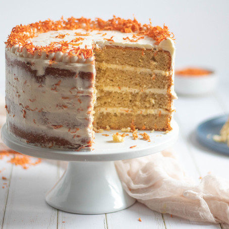Gluten Free Spiced Cake with Carrot Cream Cheese Frosting (makes 1 8-inch cake)