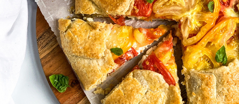 Rustic Tomato and Lemon-Ricotta Tart