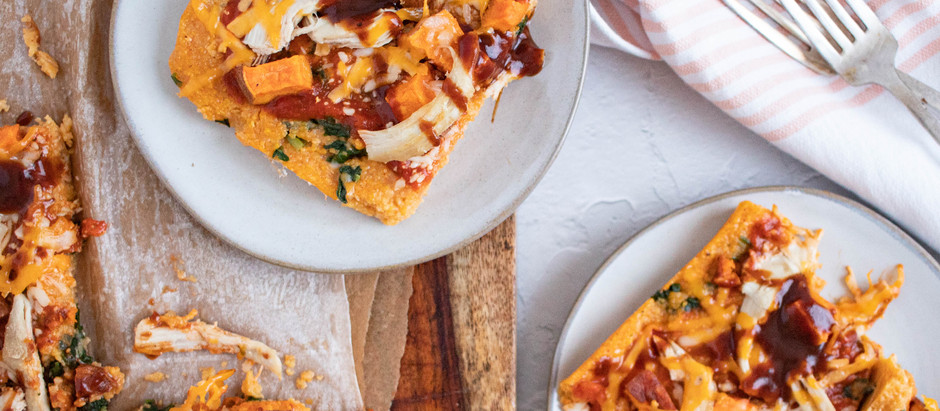 "BBQ Chicken Polenta ""Pizza"""