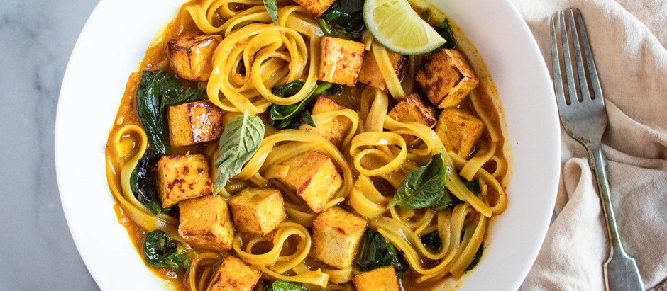 Curried Noodle Bowl with Tofu