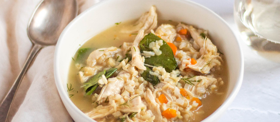 Lemon-Dill Chicken and Rice Soup