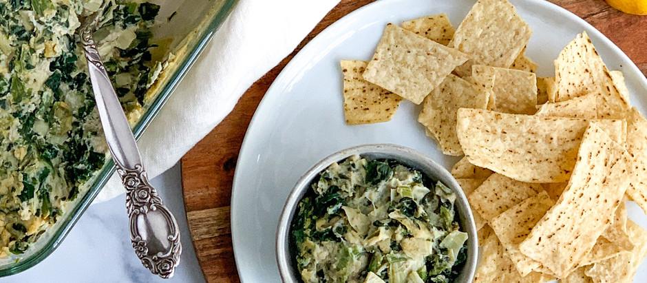 Vegan Spinach, Artichoke, and White Bean Dip