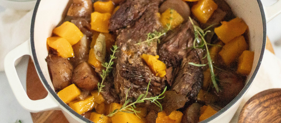 Rosemary Pot Roast with Butternut Squash