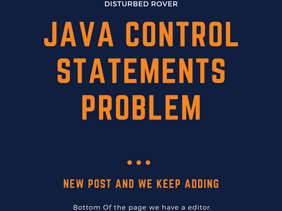 Control Statement Problems(JAVA)
