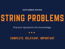 String Programming Questions (Java).