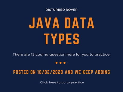 Data Types Problems(JAVA)