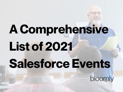 Salesforce Ecosystem Events 2021