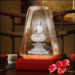 Budha engraved inside the Crystal