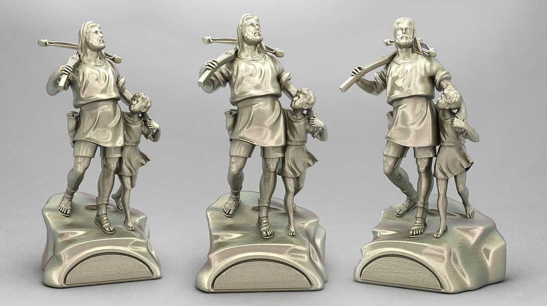 3D model of William Tell sculpture