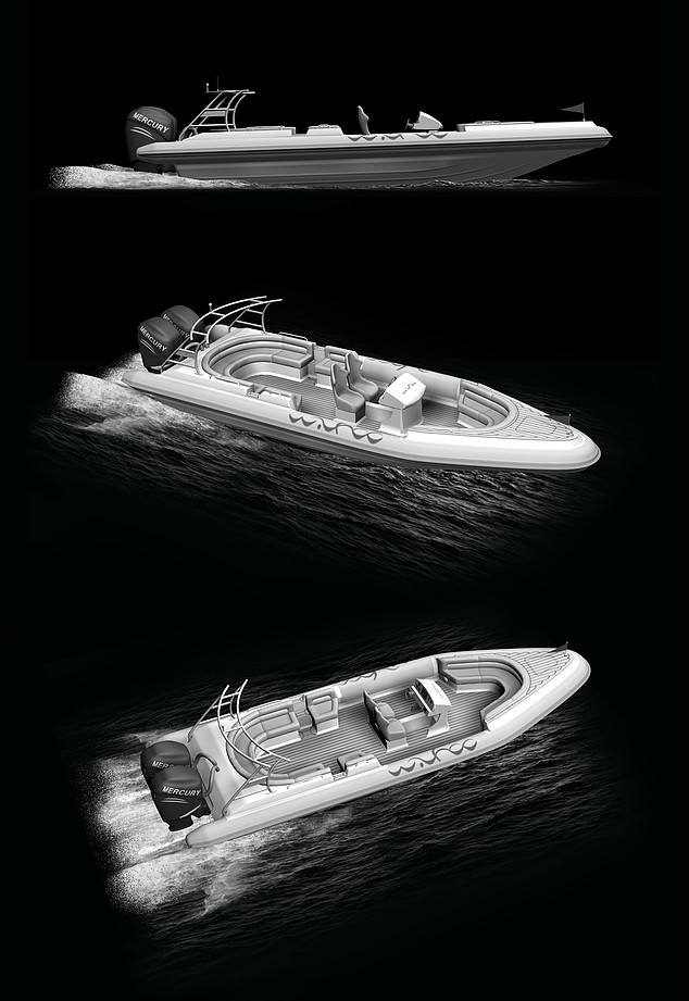 3D model of motorboat