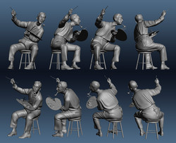 3D Model of Norman Rockwell