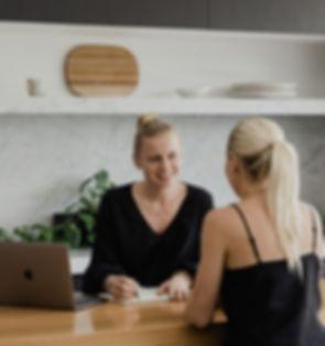 Alex Joy advises the client at a private consultation