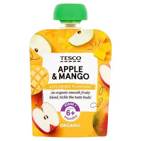 Tesco Apple & Mango Pouch 70G