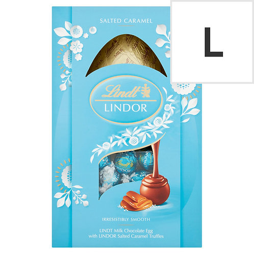 Lindt Milk Chocolate Egg With Salted Caramel Truffles 260G