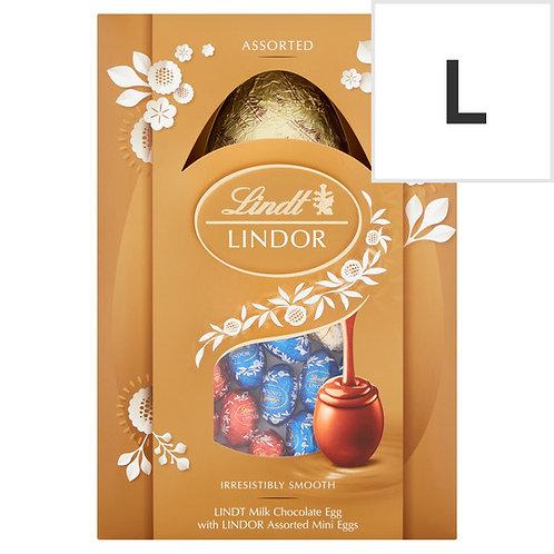 Lindt Lindor Assorted Milk Chocolate Shell Egg 215G