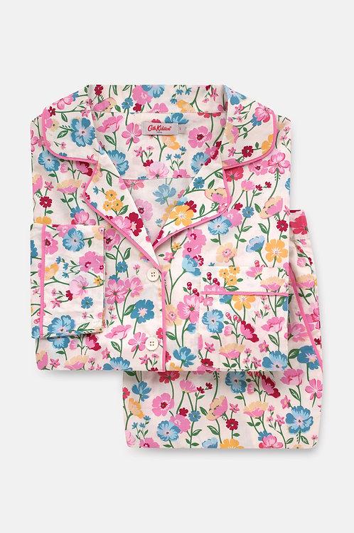 Park Meadow Woven Long Pyjama Set - S M L XL