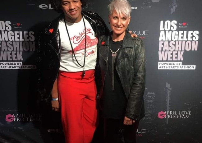 @dairdesign , friend and collaborator at L.A Fashion Week