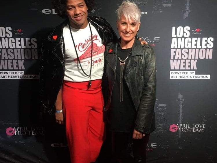 @dairdesign , friend and collaborator at L.A Fashion Week