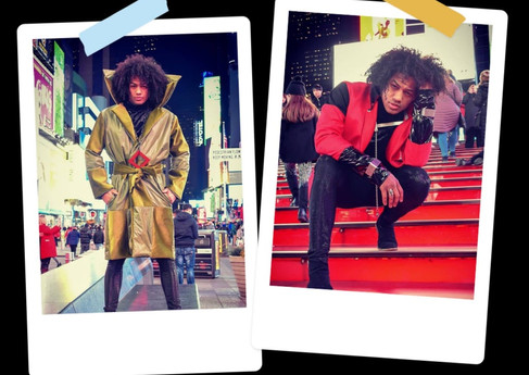 @Dairdesign shooting my jewelry and his clothes at Times Square