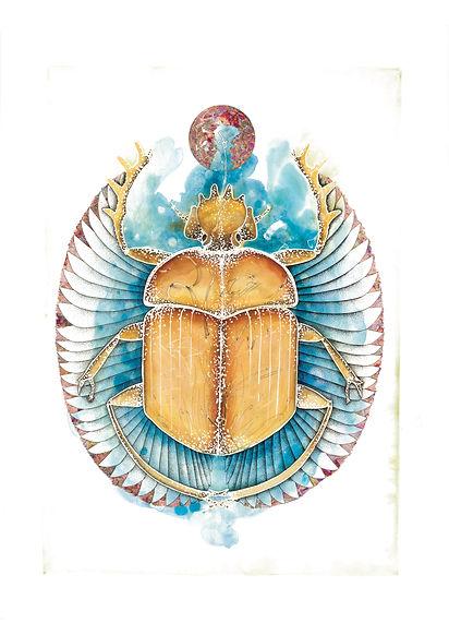 Scarabée - Aniamux totem - Egyote - Illu