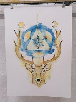 Le Roi cerf - AO Artiste - Anne-Sophie V