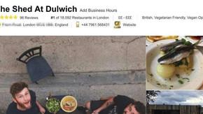 Ce que nous apprend le n°1 TripAdvisor, un restaurant Londonien inexistant, pour ta com bien-être.