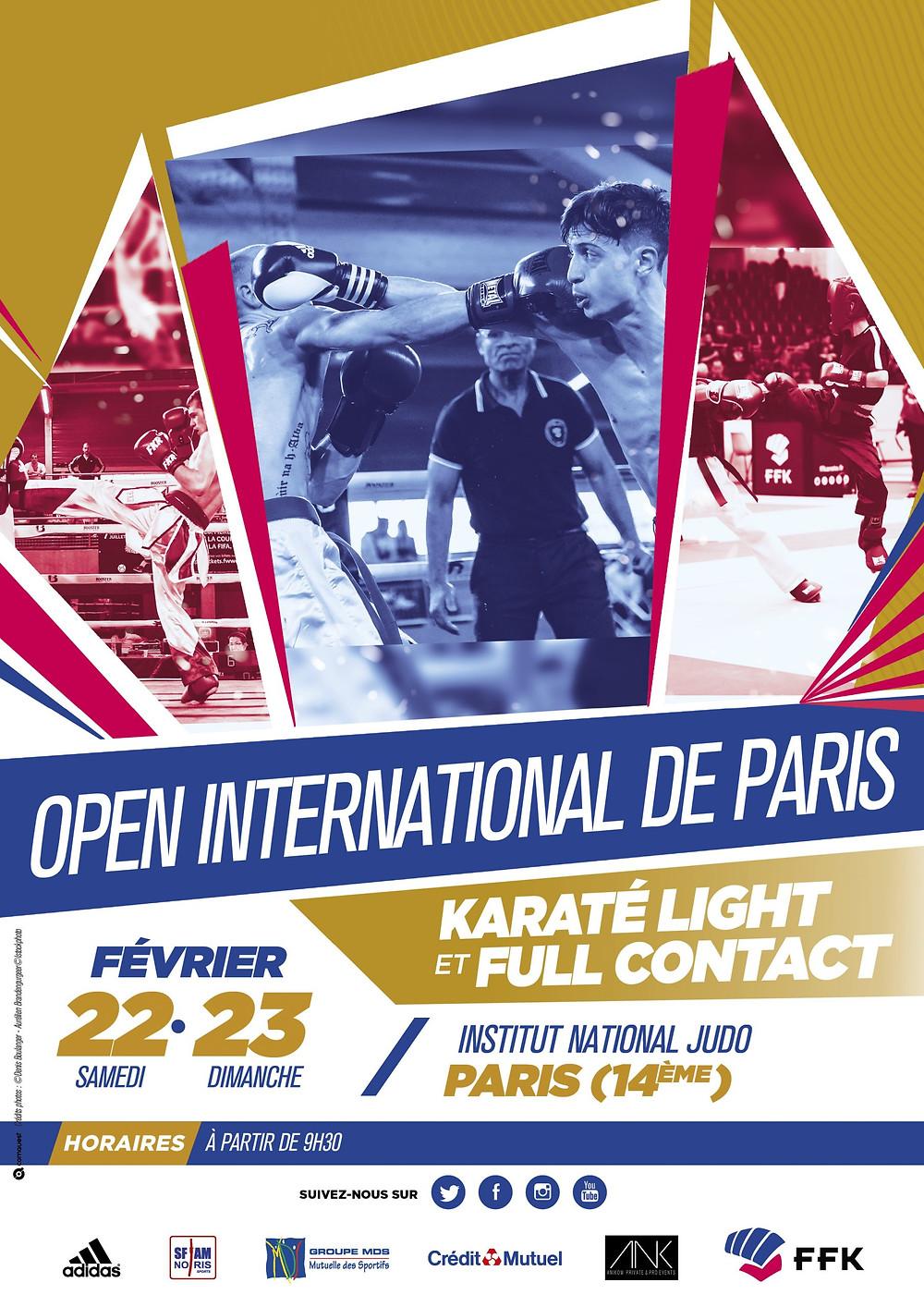 Open international de Paris Light contact et full contact - athlète et sépienne - sclérose en plaques karaté et boxe