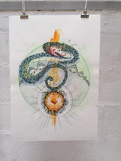 Le roi dragon original- AO Artiste - Ann