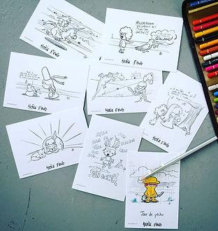 Cartes postale à colorier- AO Artiste -