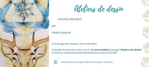 Carte cadeau ateliers de dessin - Saint