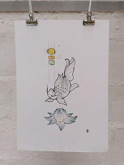 Lotus et Carpe - AO Artiste - Anne-Sophi