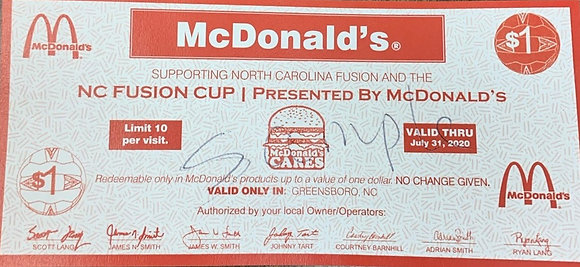 McDonald's McBucks - 1 Book, $15 value