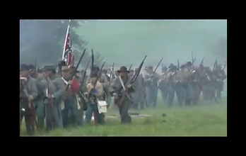 Confederate Soldiers shooting muskets