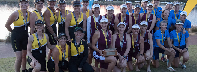 And then we took the Gold in the 2019 Interstate women's masters eight! Go Queenslanders!