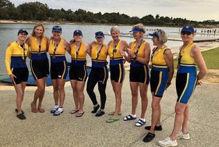 TRC women's club eight in Perth