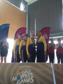 TRC Masters Women winning at the World Masters Games.