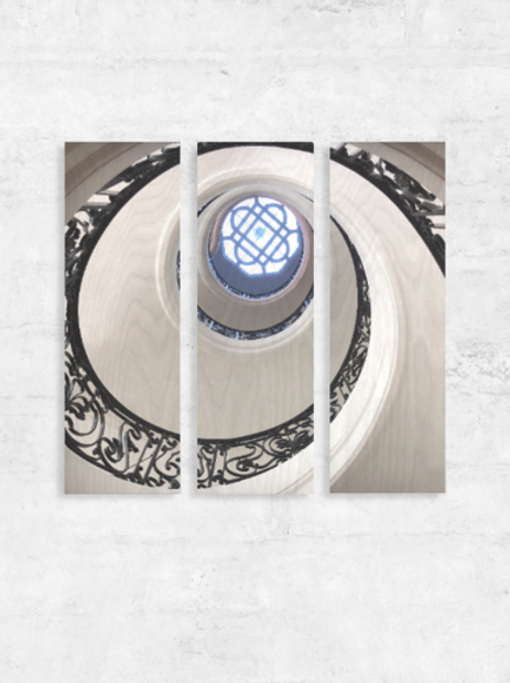 Triptych Wall Hanging - Spiral Staircase