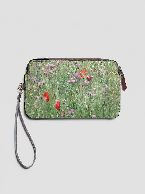 Floral Clutch -Leather