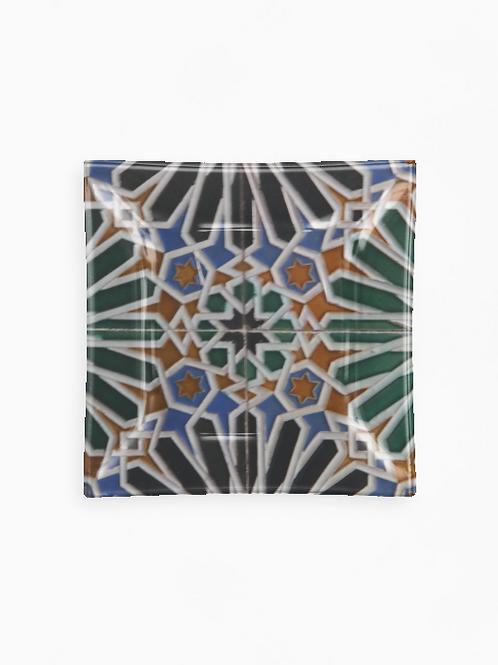 Square Glass Tray - Italian tile