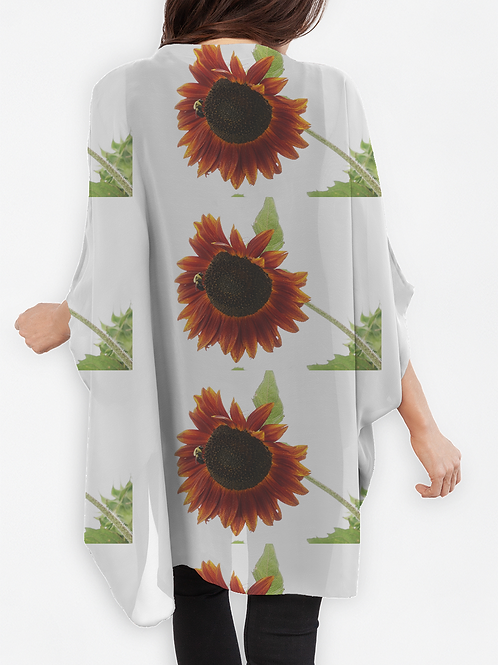 Cocoon Wrap - Red Sunflowers
