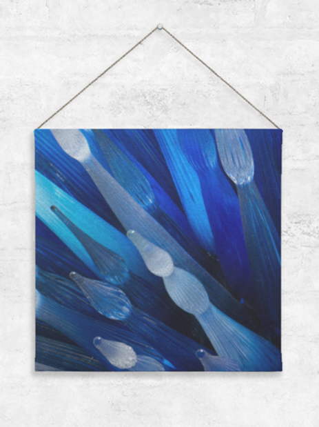 Blue Glass Wall Hanging
