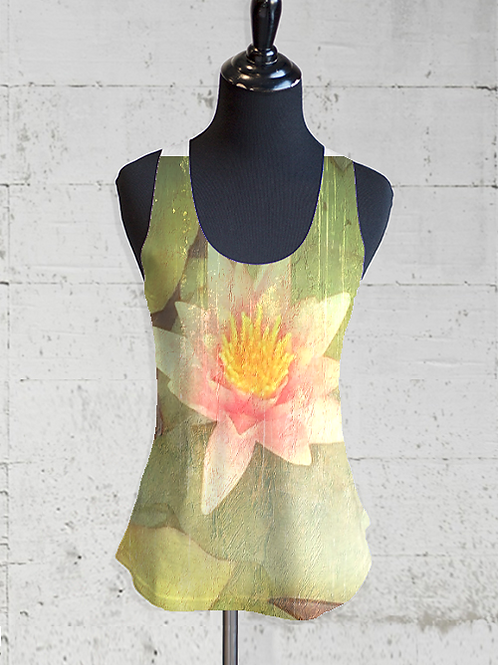 Textured Water Lily Racer Back Tee