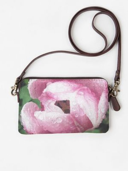 Rose with Dew Clutch